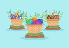 Pacote de vetores de ovos de pascoa