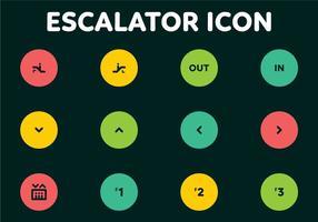 Códigos escada rolante Icons Vector