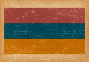 Bandeira de Grunge da Armênia vetor