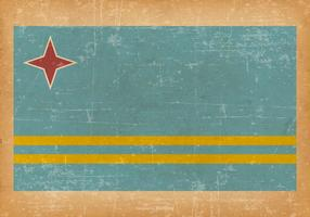 Bandeira de Grunge de Aruba vetor
