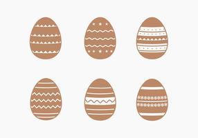 Chocolate decorativa Coleção do ovo de Páscoa vetor