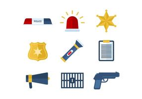Livre Polícia Icons Vector