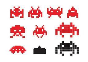 Ícones Space Invader vetor