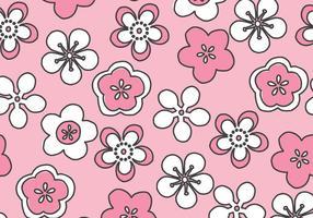 Padrão de flores cor-de-rosa vetor