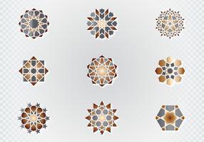 Símbolos decorativos árabes vetor