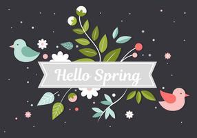 Flor livre Primavera Elements Vector