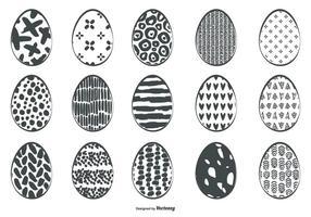 Coleção esboçado bonito Ovo de Páscoa