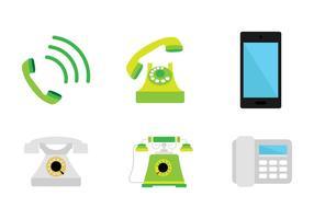 Verde ícone de telefone vetor