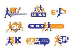 5k run logo vector