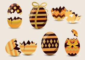 Vetor de padrão de ovo de páscoa de chocolate
