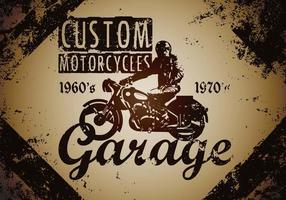 Ilustração Personalizado Vintage Motorcycle