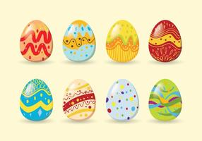 Ovos de easter coloridos vetor