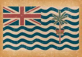 Bandeira de Grunge Britânico do Oceano Índico vetor