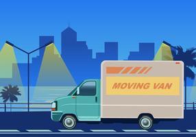 Movendo Van Para Transporte de Cargas Vector