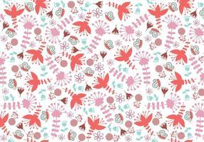 Lunático Padrão Floral Illustrator
