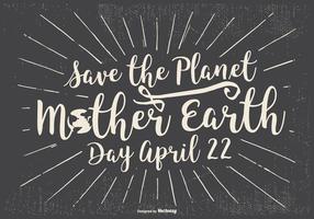 Ilustração tipográfica Dia da Terra vetor