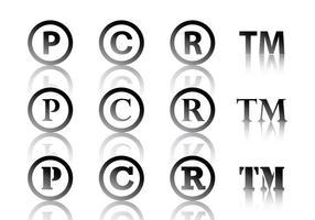 Símbolo preto de Copyright vetor