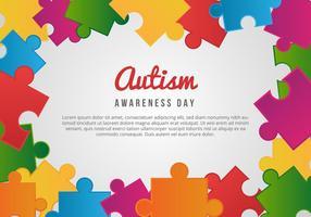 Cartão do dia consciência do autismo livre vetor