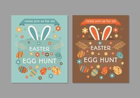 Poster retro Easter Egg Hunt vetor