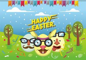 Hipster Design Easter Vector