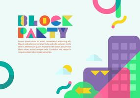 Background Block Party vetor