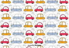 Pattern Doodle Vector Car