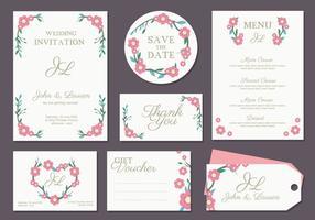 Vector Cartão do convite do casamento