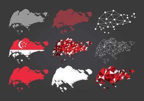Tipo de Singapura Mapa