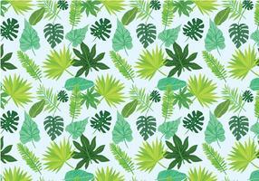 Livre Exotic folhas de vetores padrão