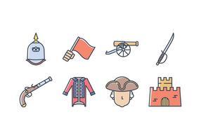 Colonial Exército Icon Set