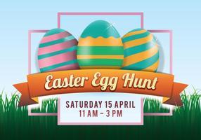 Cartaz da caça ao ovo da páscoa