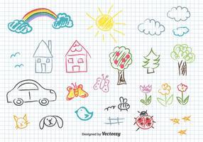 Crianças desenho vetorial vetor