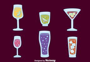 Fizz vetores cocktail
