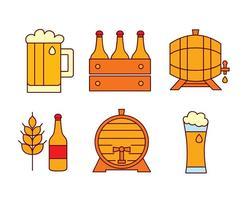 Vetores de elemento de cerveja