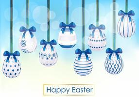 Decorativa do ovo de Easter vetor