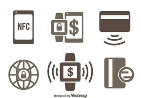 NFC pagamento Ícones Vetores