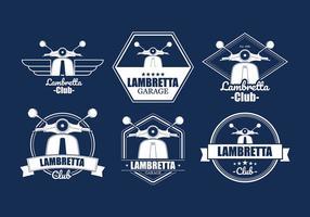 Lambretta Badges Vector Livre