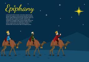 Epiphany Noite dos desenhos animados Vector grátis