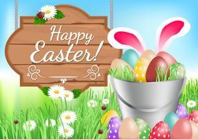 Fundo feliz de Easter vetor