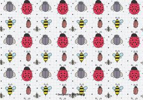Desenhada mão Insects Pattern vetor