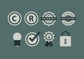 Símbolo e ícones livre de Copyright vetor