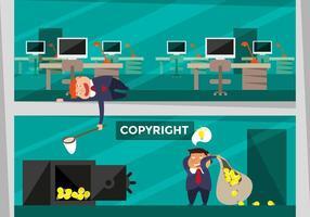Copyright Concept Ilustração Plano vetor