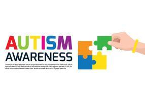 Poster consciência do autismo vetor
