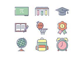 Educação Icon Set vetor