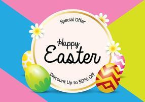 Fundo de Easter Sale vetor
