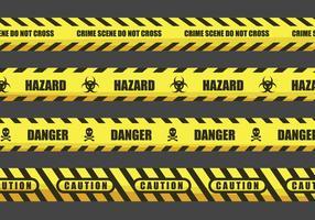 Cuidado e perigo fita Ilustrações vetor