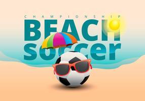 Futebol de praia Ilustração vetor