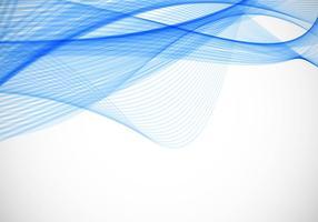 Background livre Vector ondulado azul