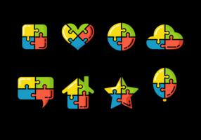 Símbolo enigma colorido do Autismo vetor