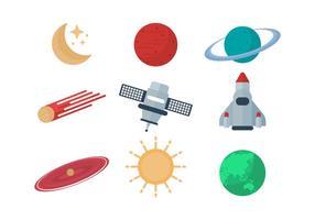 Livre Astronomia Icons Vector